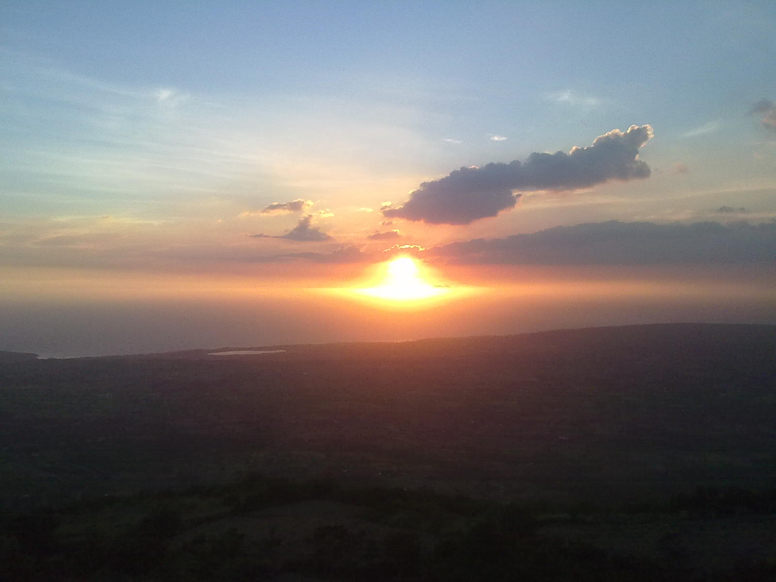 Jamaica sunset seen from Munro Hills St Elizabeth