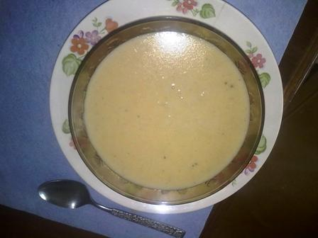 Corn meal porridge jamaican breakfast