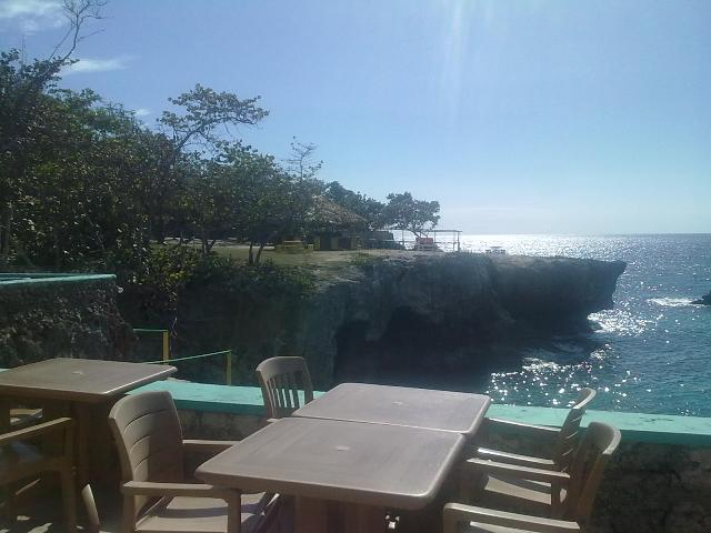 Negril Cliffs seen from Xtabi Restaurant