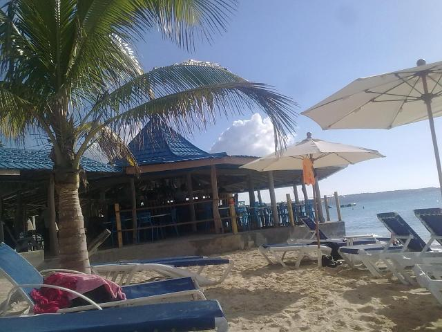Tree House Hotel Bar on Negril Beach