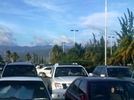 Kingston Jamaica Airport Car Park