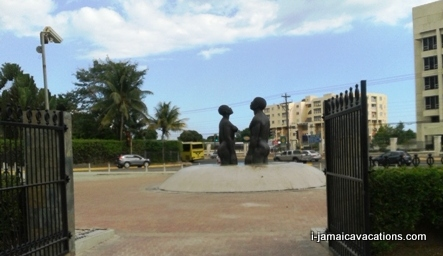 Freedom Statute Emancipation Park Kingston Jamaica