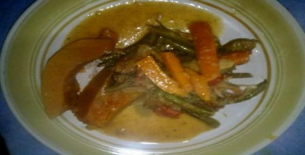 Steamed Mix Vegetables with pumpkin