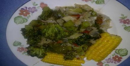steamed veg breakfast