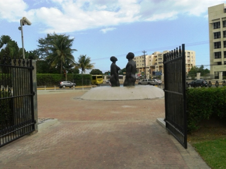 Freedom Statue at Emancipation Park Kingston