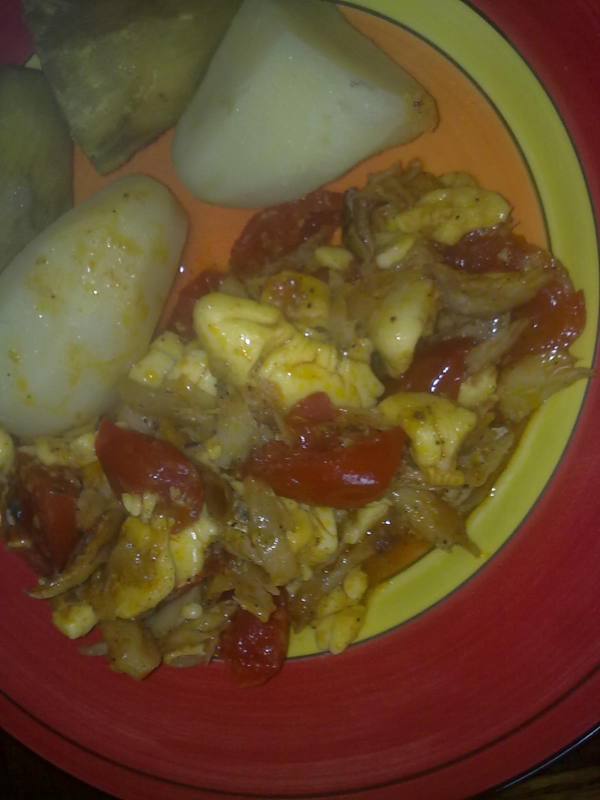 Jamaica National Dish - Ackee and Saltfish