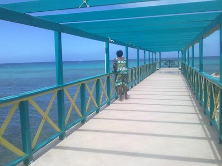 Pier at FDR Runaway Bay Jamaica