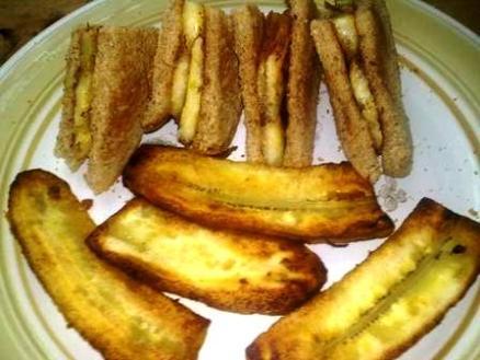Fried Plantain breakfast on toast
