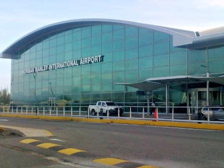 Norman Manley Intl Airport in Kingston Jamaica