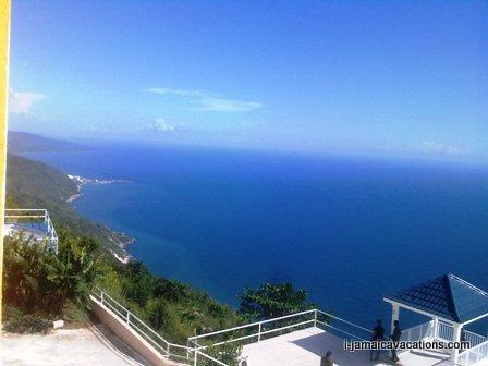 View from Oceanbreeze Hotel, near Southfield St Elizabeth
