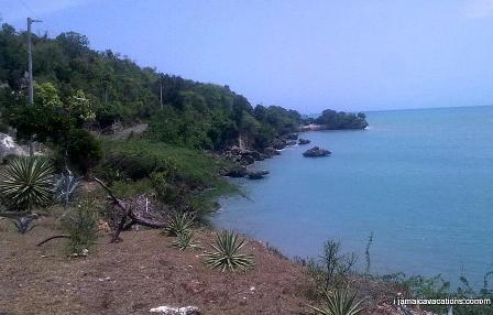St Elizabeth Shoreline view from Pon de Rock Guest House