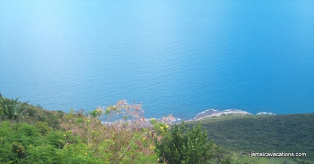 View from Lovers Leap St Elizabeth Jamaica