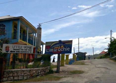 Entrance to Little Ochie Beach Restaurant Manchester Jamaica