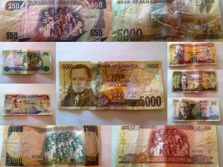 Jamaican Currency Notes